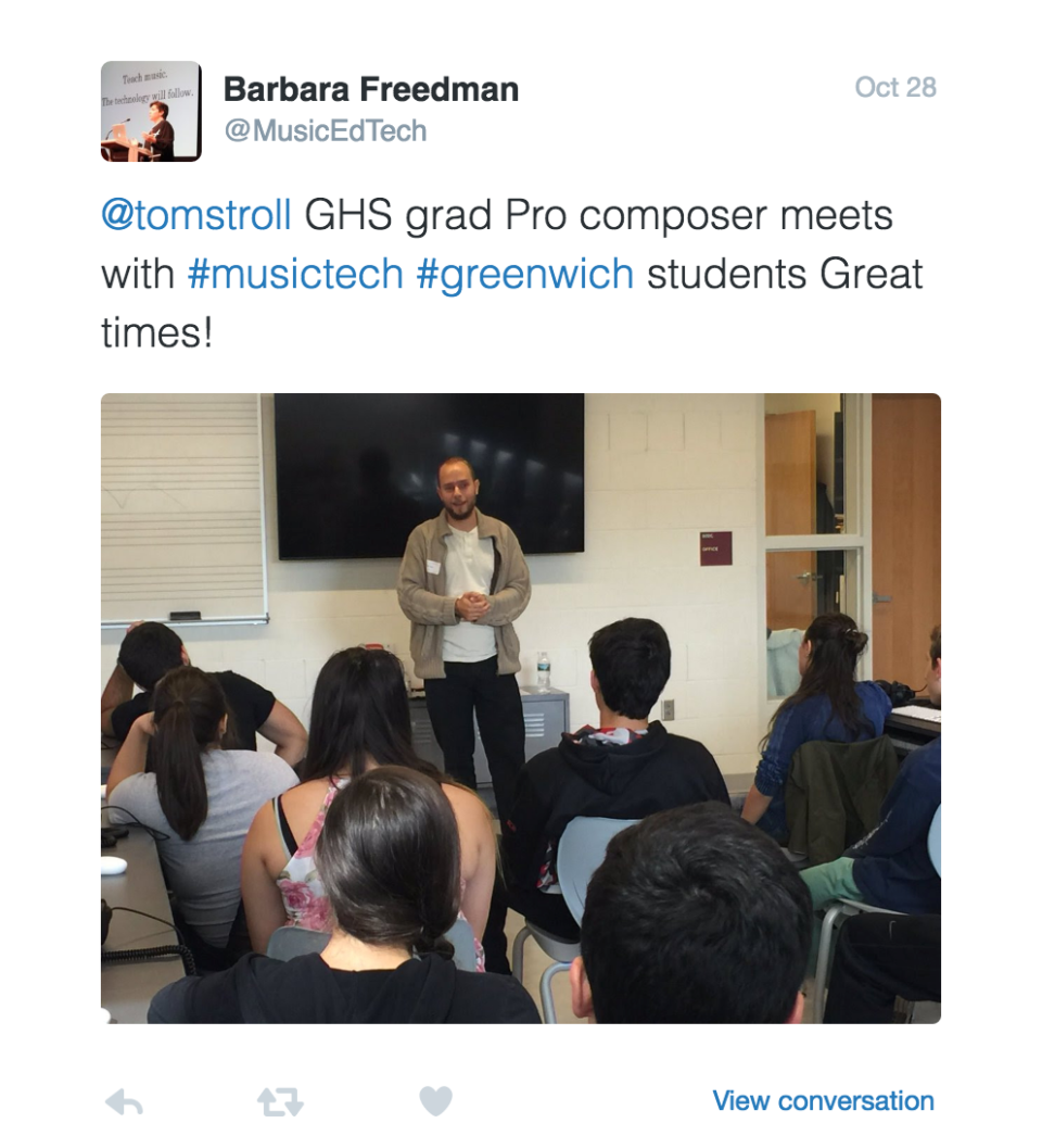 ghs-electronic-music-lecture-barbara-freedman-tom-pic